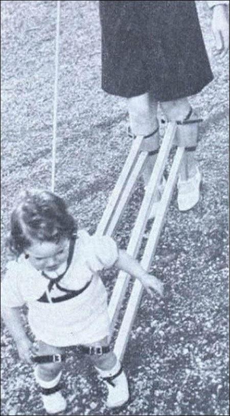 Įrenginys turintis padėti išmokyti vaikus vaiksčioti (1939)