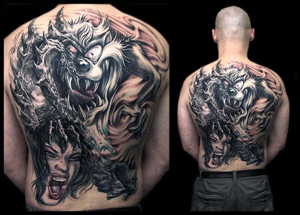 Tatuiruotė ant nugaros