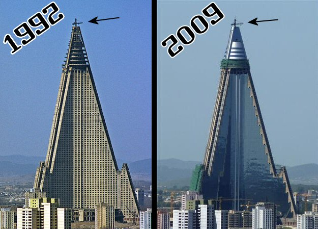 Ryugyong viešbutis 1992-2009m.